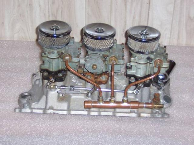 EDELBROCK 3X2 TRIPOWER S/B CHEVY 283 327 350 400 TRI POWER COMPLETE