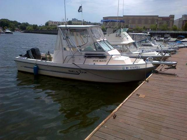 1987 sea ox walkaround 23ft fishing boat for sale 7000