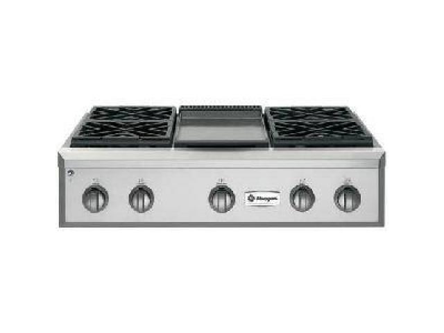 ge monogram 36 u0026quot  pro-style gas cook top range  zgu36ndpss  for sale