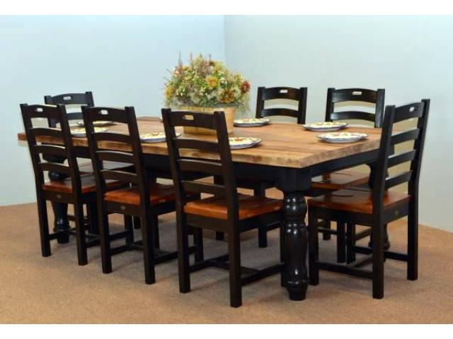 sale pine gallery of farm tables dining black contemporary lots view bench our for rustic table log farmhouse