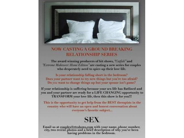 Looking for couples who want to spice things up in the - Spicing up the bedroom for married couples ...