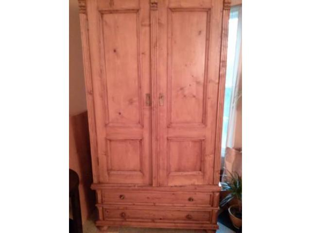 pine armoire cabinet with 2 drawers for sale 800 mount. Black Bedroom Furniture Sets. Home Design Ideas