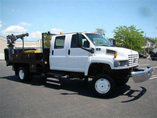 2005 Chevrolet C5500 Truck For Sale 4x4 Crew Cab Flatbed Utility