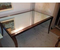 On sale french mirrored dining table seats 10 600 east for 10 seater dining table sale