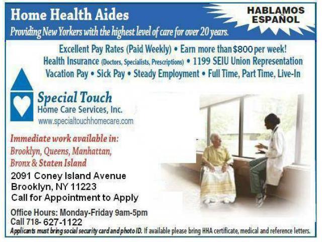 Hiring HHA\'s English/ Spanish Great Pay & Benefits ($500 Bonus ...