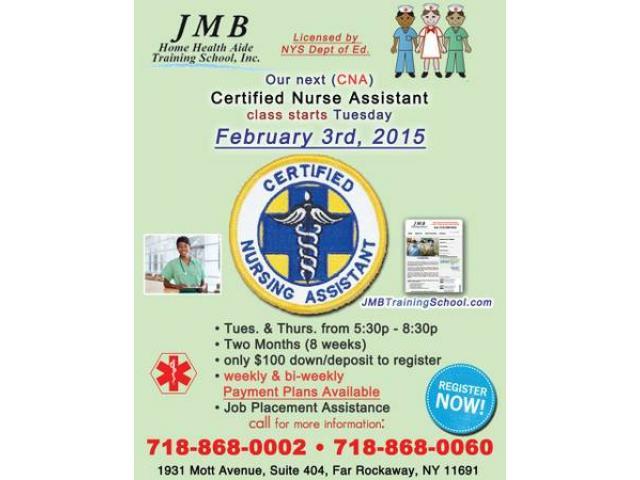 Cna Certified Nurses Asst Training Only 100 Down Feb 3 2015