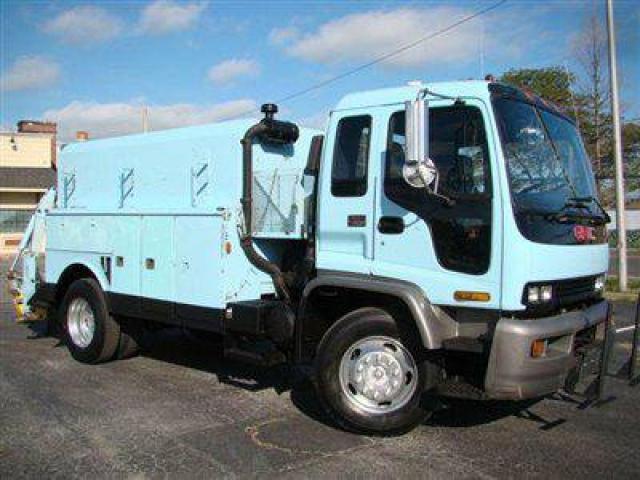 1999 gmc t7500 truck for sale enclosed body w compressor backhoe 20000 island park ny. Black Bedroom Furniture Sets. Home Design Ideas