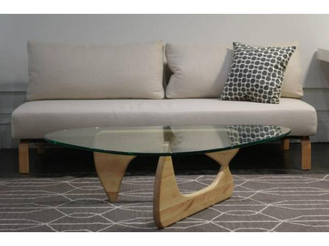 Glass And Wood Kidney Shaped Coffee Table For Sale 299 Tribeca Nyc New York City New