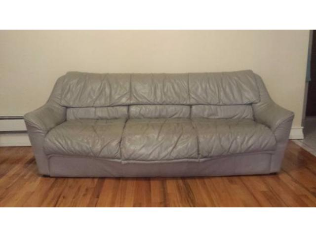 3 piece leather couch for sale - $300 (Brooklyn, NYC) New York City ...