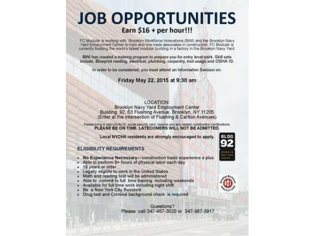 free construction training at the brooklyn navy yard - (nyc) new ...