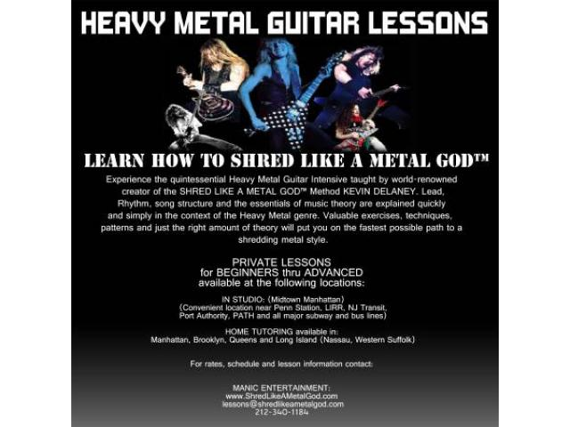 guitar lessons learn how to shred like a metal god queens nyc new york city new york ads. Black Bedroom Furniture Sets. Home Design Ideas